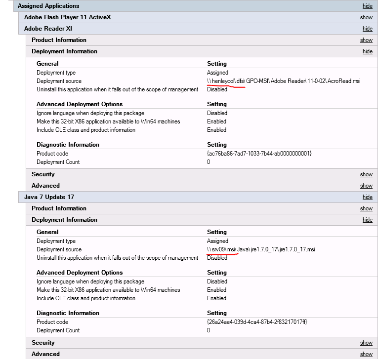 Changing the path to a MSI in Group Policy Software Installation