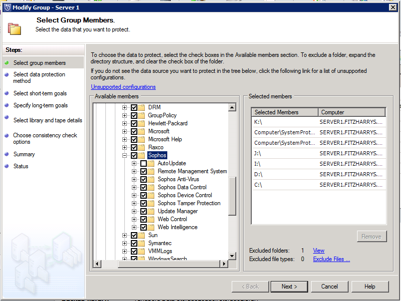 DPM 2012 can't backup server with Sophos Installed | my world of IT