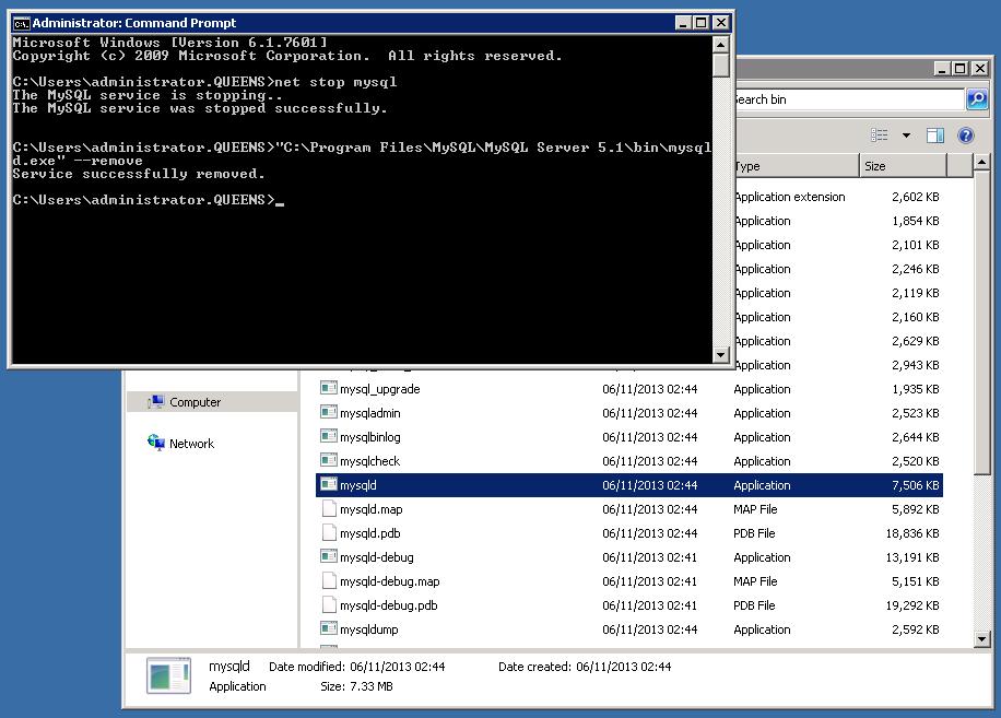 Upgrading MySQL Community Server from 5 1 to 5 5 on Windows