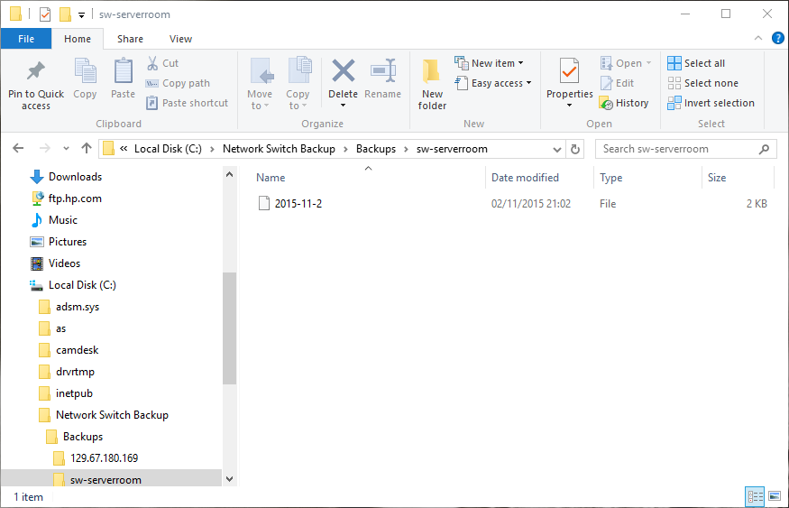 Automated backup for your network switches with WinSCP and