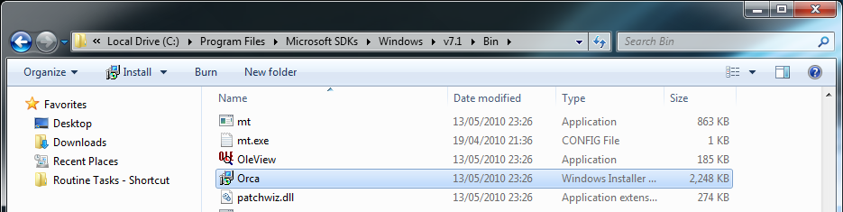 Installing Orca (MSI editor)   my world of IT