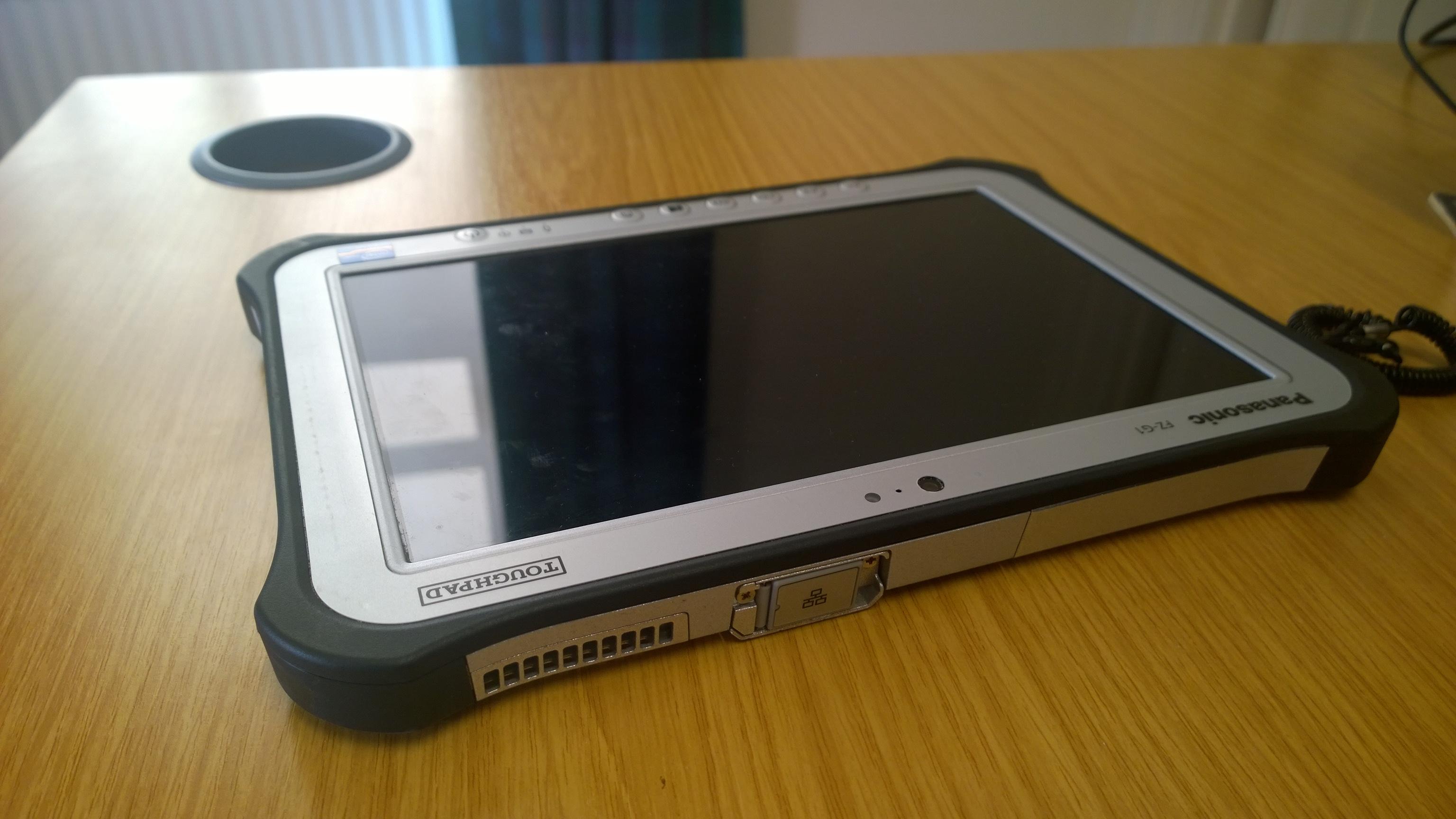 Panasonic Toughpad FZG1   my world