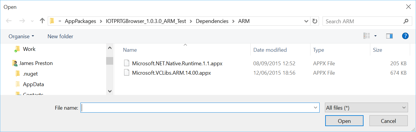 Windows 10 IoT Core AppX Manager Error code: 0x80004005 when trying