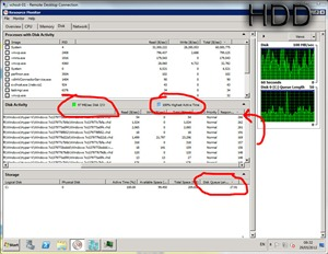 The HDDs building 20 desktops