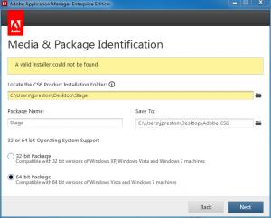 Adobe Application Manager Enterprise Edition – A valid installer