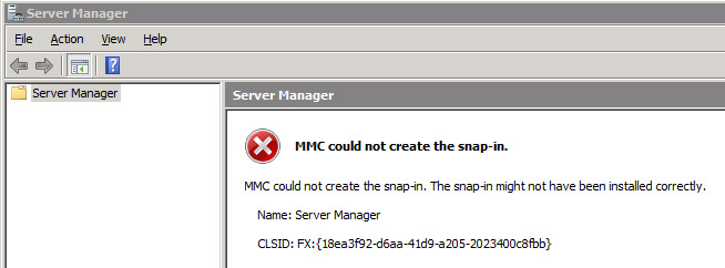 MMC could not create the snap in – Server 2008 | my world of IT