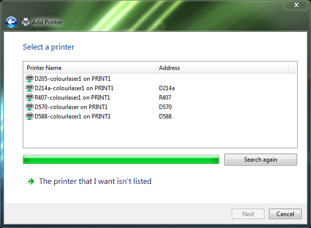 The large amount of printers are missing