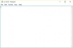 A blank csr.txt file